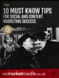10 must know tips for social and content marketing success